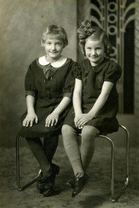Sisters Virginia and Norma Schwabauer
