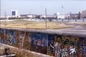 "Berlin Wall and view of ""No-man's Land"" 1985"