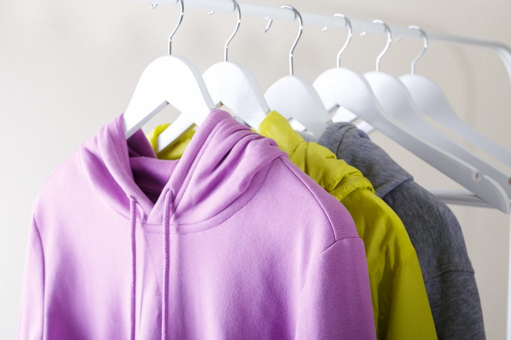 clutter free clothes
